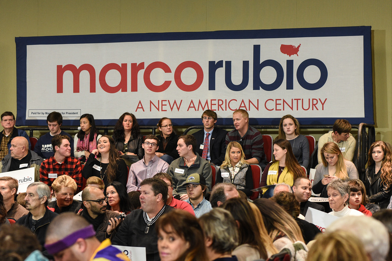 Marco Rubio holds a presidential rally in Columbia, South Carolina