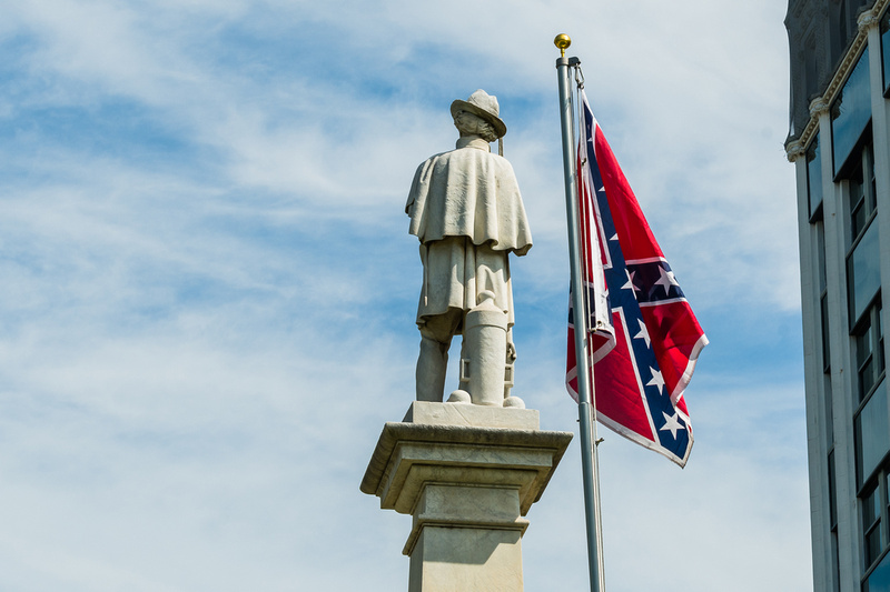 South Carolina Secessionist Raise Confederate Flag In Protest 2 Years After Its Removal From S.C. State House Grounds.
